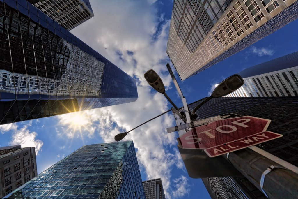 worm-s-eye-view-of-skyscrapers-1136463