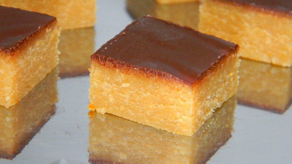 Narancsos-marcipános kocka