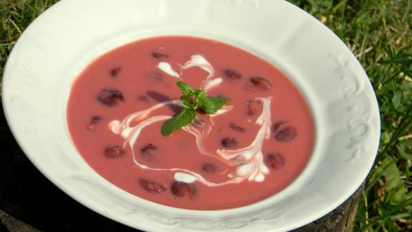 Joghurtos meggyleves ánizzsal