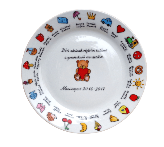 Ballagási tányér jelekkel ovisoknak