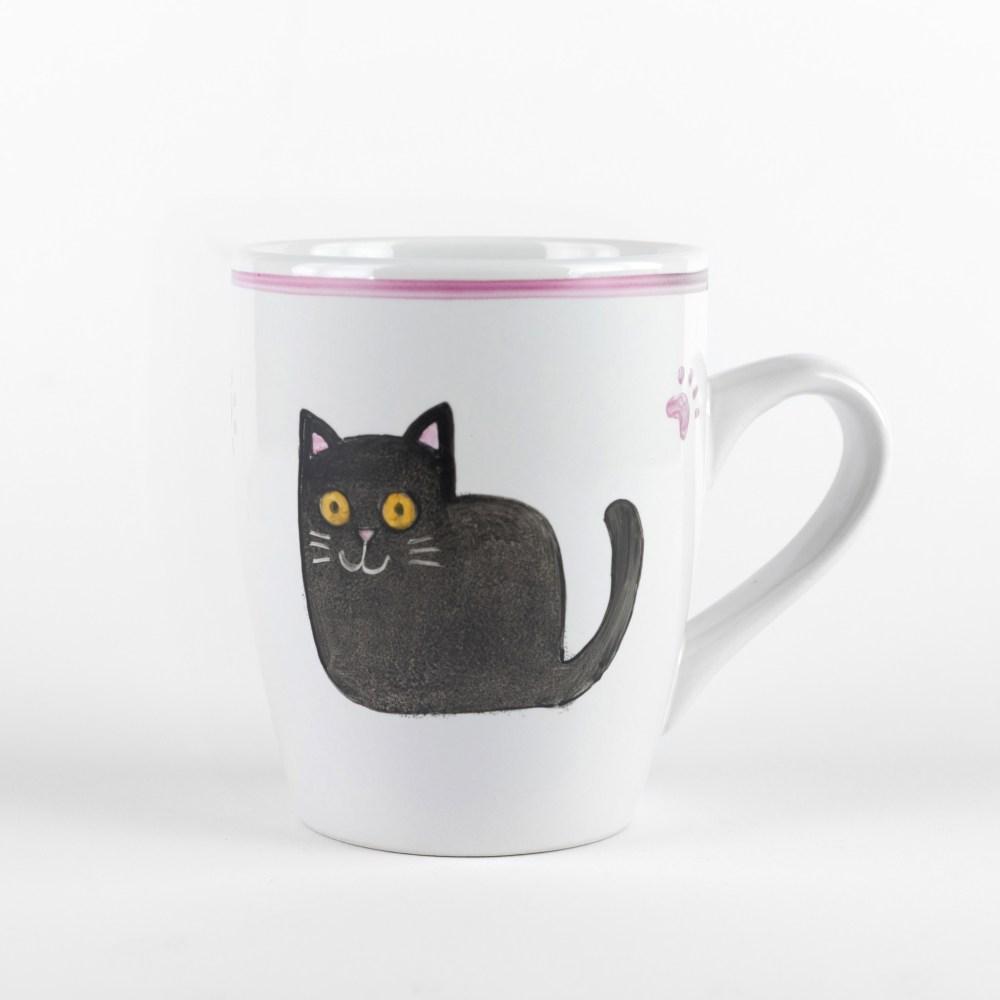 fekete macskás bögre