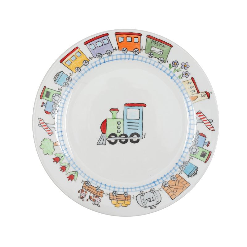 vonatos tányér