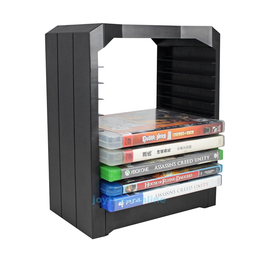 Discs Storage Tower With Dual Charging Stand Dock For PS4