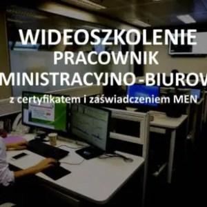 szkolenie online pracownik administracyjno-biurowy