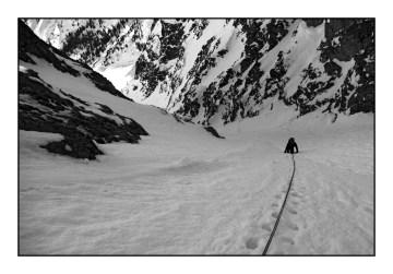 Pola śnieżne pod Przełęczą