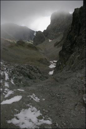 Widok z Lodowej Przełęczy na południe