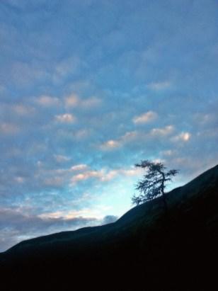 Świt na podejściu pod próg Doliny Batyżowieckiej
