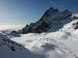 Pośrednia Grań i Dolina Pięciu Stawów Spiskich z podejścia na Baranią Przełęcz