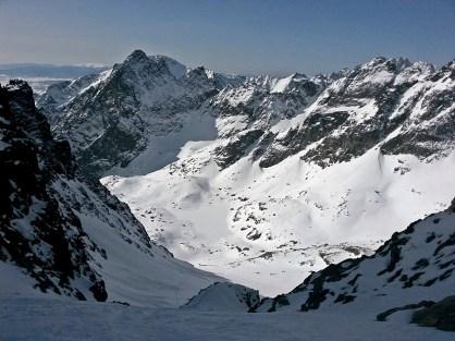 widok z Baraniej Przełęczy na południowy-zachód