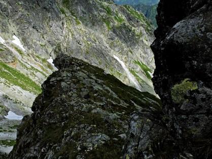 Tym trawiastym zachodem na grzędę wychodzi droga Sawickiego