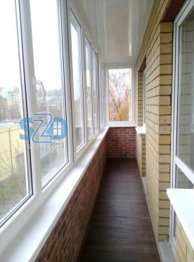 Остекление и внутренняя отделка балкона Калининград, ул. Нансена