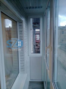 Монтаж и отделка балкона г.Балтийск,Ленина 75-а