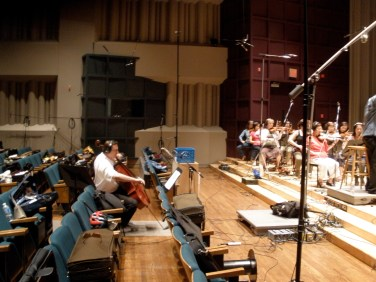 Recording session at Glenn Gould Studio in Tronto
