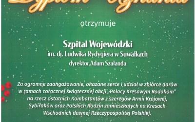 """Zbiórka paczek Bożonarodzeniowych w ramach świątecznej akcji """"Polacy Kresowym Rodakom"""""""