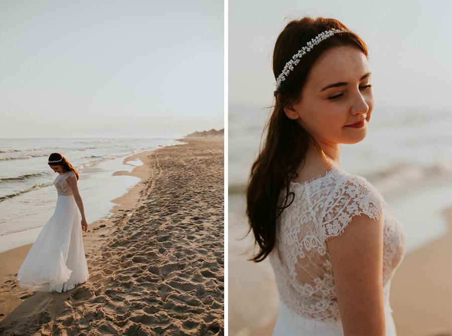 cudowny plener ślubny nad polskim morzem