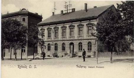 budynek dawnej poczty w Rybniku