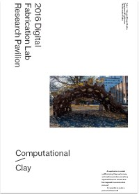 Draft of Cover of Computational Clay Pavilion Book