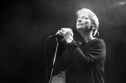 Anne Clark in Hof 2015. Foto: Marcus Rietzsch