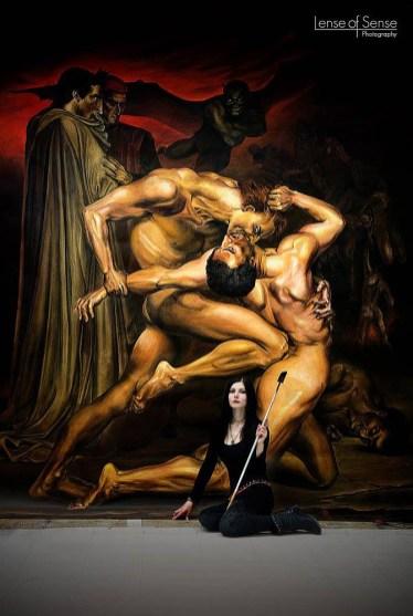 Lisa Schubert mit dem Bild Dante und Vergil nach Bouguereau