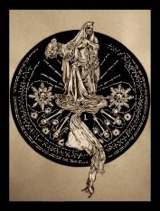 """Circle Of Death: Shirt Design für die Band """"Wolves Den"""""""