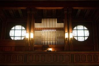 Orgel der Kapelle des Südwestkirchofs Stahnsdorf