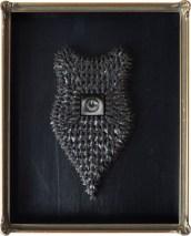 Öl auf Leinwand, 2,8 x 3,1 cm (ohne Rahmen) Trophäenschild mit Fliegen