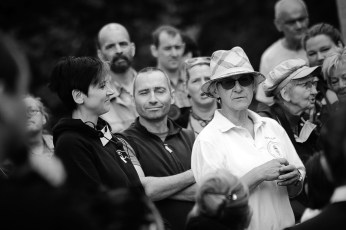 Christel Lau, Vorsitzende des Vereins zum Erhalt der Domjüch (rechts)