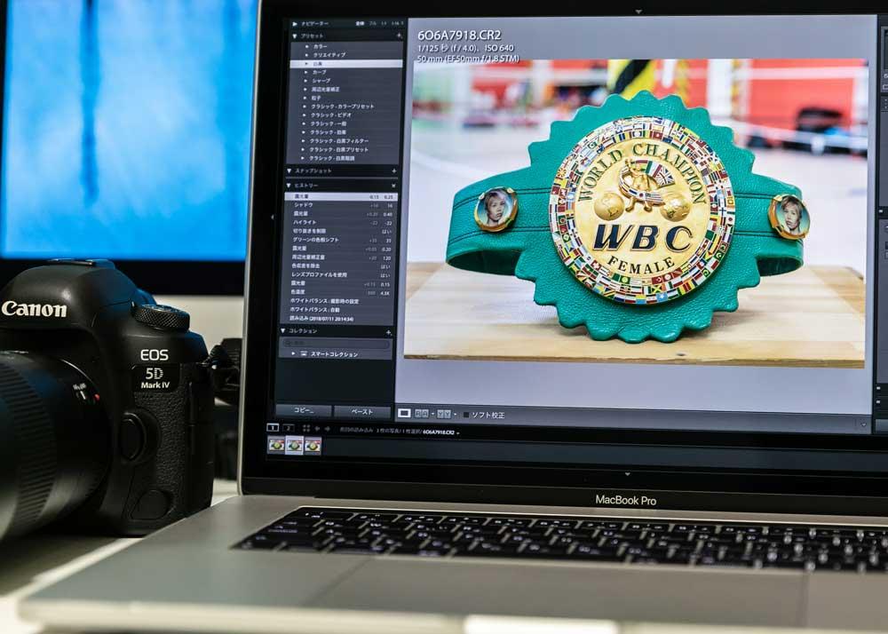 元WBC女子世界フライ級王者、真道ゴー様撮影