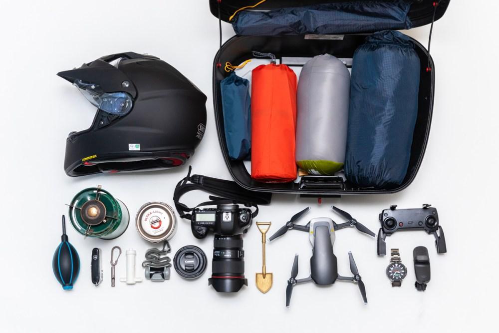 撮影の旅の道具