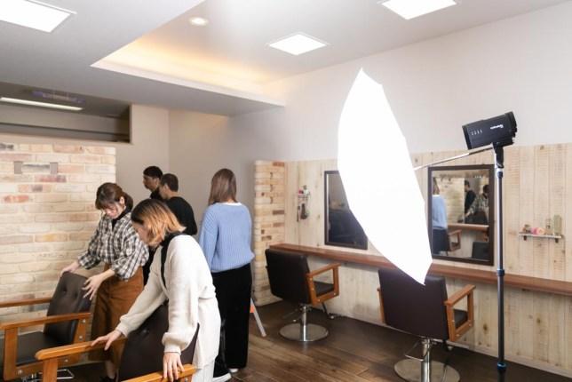 プロフォトB10で美容室撮影