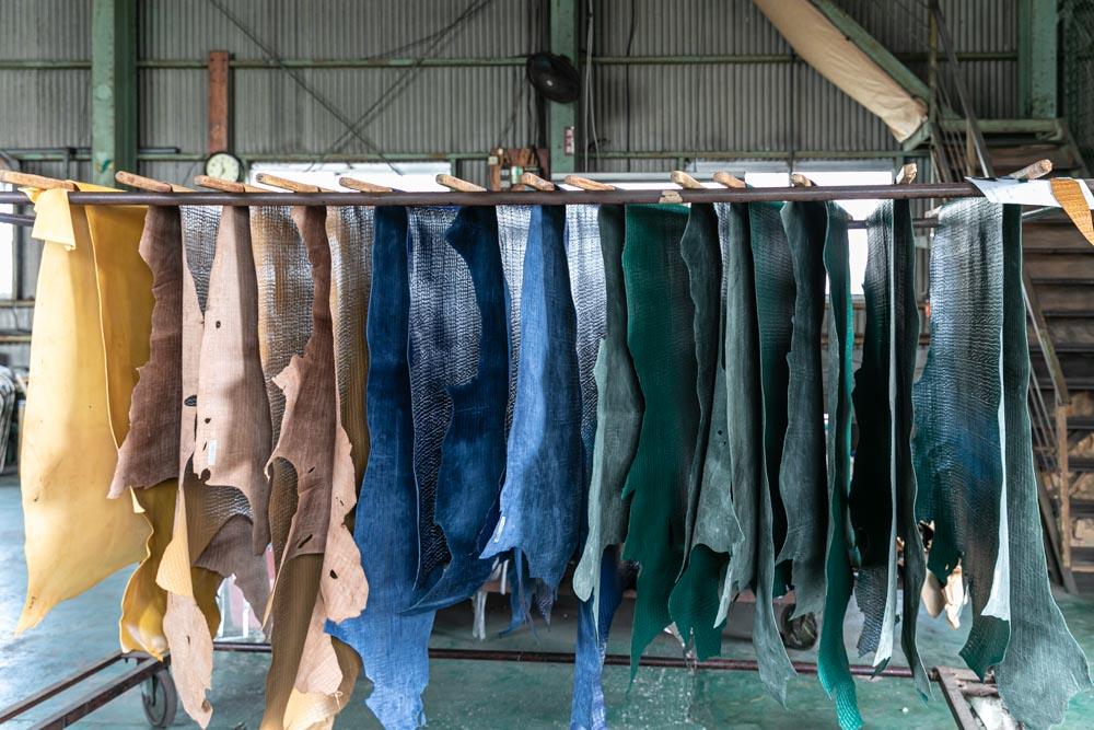 ヌメ革、皮革製造販売の松本太作商店様の撮影
