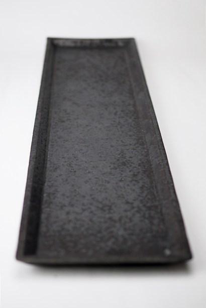 H-1 灰釉長方皿