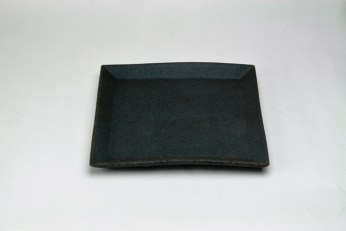 T-4  炭化四角皿(小小)