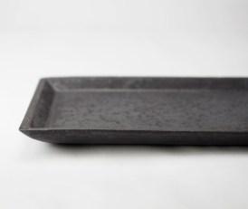 H-1 灰釉オードブル皿 部分