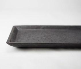 H-1 灰釉長方皿 部分