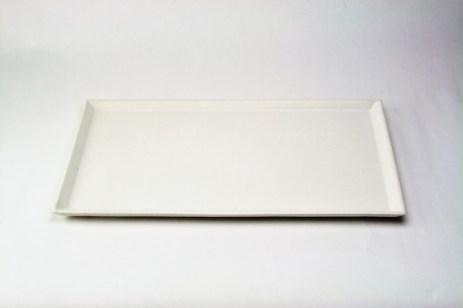 W-19 白釉長角皿