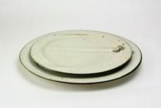 K-17a/b 粉引幅広リム皿Φ20・23cm