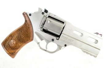 CHIAPPA RHINO 4″ 40DS Revolver | Nickel | .357 Magnum/.38 Special (340.222)