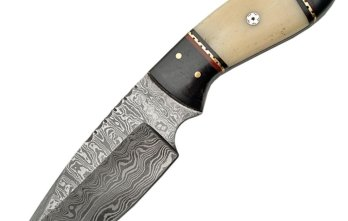 Damascus – Fixed Blade White Bone