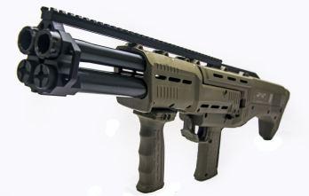 Green DP-12 Double Barrel Pump Shotgun