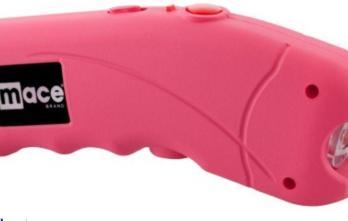 MACE – Stun Gun Ergonomic with LED Light and 2.4 Million Volts Pink