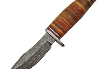 Damascus – Stacked Leather Skinner