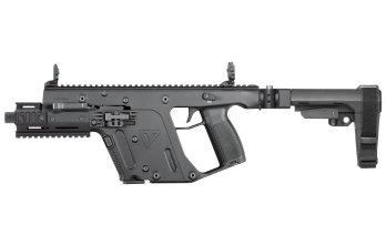 Kriss Vector – 9mm Pistol with Enhanced model Brace Black  (KV90-PSBBL30) folding brace, foregrip, 6.5 barrel