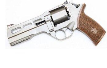CHIAPPA RHINO 5″ 50DS Revolver | Nickel | 40S&W (340.233)