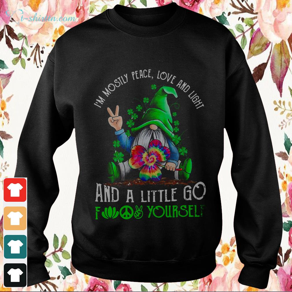 Download St. Patrick's Day Gnome I'm mostly peace love and light ...