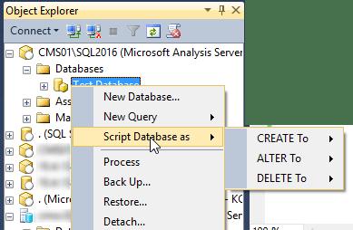 Script SSAS Database