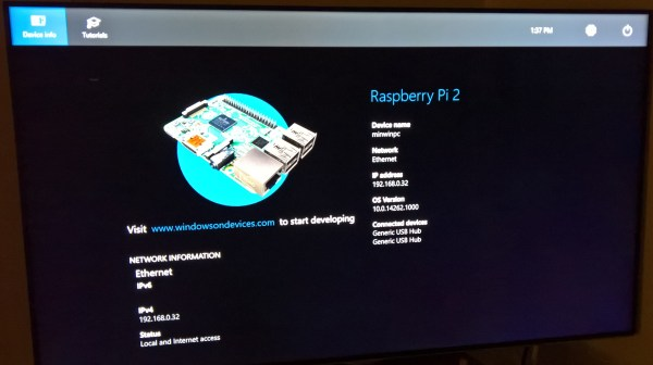 Raspberry Pi 3 OS Screen