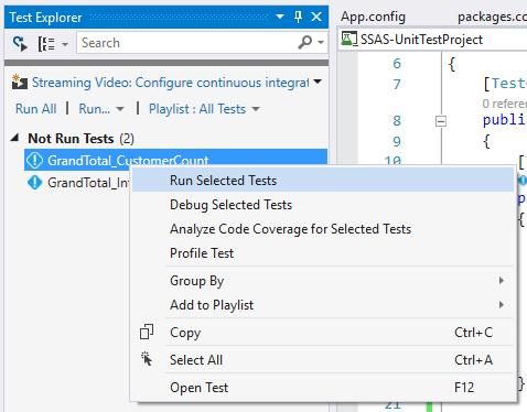 Run Selected Tests