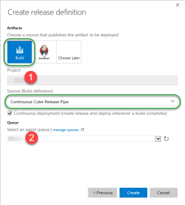 VSO Create Release Definition Wizard 2