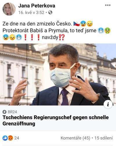 Jana Peterková a HATE na premiéra ČR Babiše 1